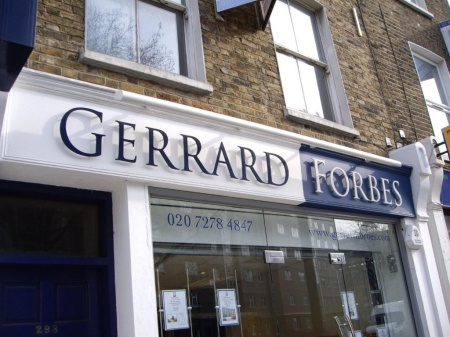 Architectural Signs London, Corporate Signs, Shop Signs London - Gerrard Forbes