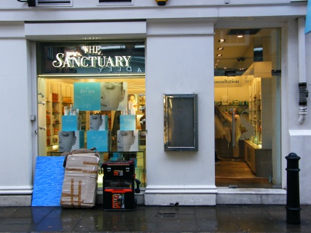 Shop Signs London, Brass Letters for the Sanctuary in London