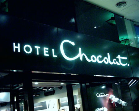Illuminated Signs London - Hotel Chocolat - Shop Signs London