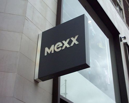 Shop Signs London, Projecting Sign for Mexx
