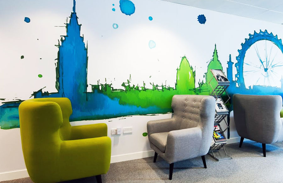 Corporate Office Signage London, Vinyl Wall Graphics - for Evestment London